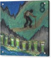 Eight Of Cups Illustrated Acrylic Print