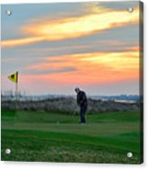 Eighteenth Green At Sunset Acrylic Print