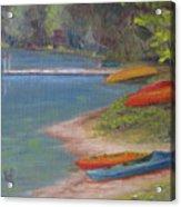 Eighth Lake Canoes Acrylic Print
