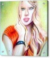 Eine Frau Ie The Girl Acrylic Print