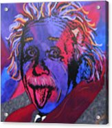 Einstein-professor Acrylic Print by Bill Manson