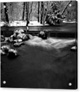 Eisbach In The Winter Acrylic Print