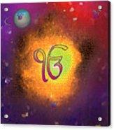 Ek Onkar Galaxy Acrylic Print