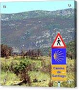 El Camino De Santiago De Compostela, Spain, Sign Acrylic Print
