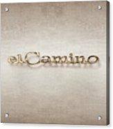 El Camino Emblem Acrylic Print