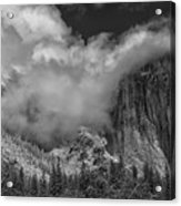 El Capitan And The Stormy Clouds Acrylic Print