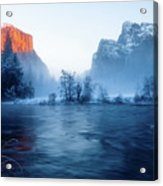 El Capitan At Blue Hour Acrylic Print