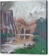 El Capitan Falls Acrylic Print