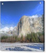 El Capitan Meadow Winter Yosemite National Park II Acrylic Print