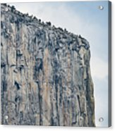El Capitan Up Close And Personal From Tunnel View Yosemite Np Acrylic Print