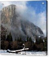 El Capitan Yosemite Clearing Storm Acrylic Print