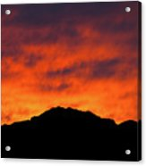 El Paso Fiery Sunset Acrylic Print
