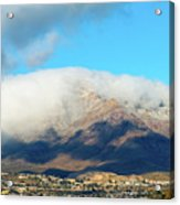 El Paso Franklin Mountains And Low Clouds Acrylic Print