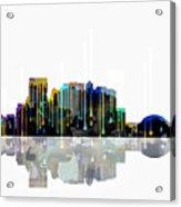 El Paso Mexico Skyline Acrylic Print