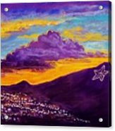 El Paso's Star Acrylic Print by Candy Mayer