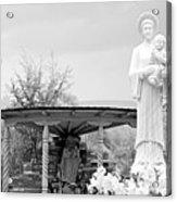 El Santuario De Chimayo Sculpture Garden 2 Acrylic Print