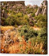El Torcal Rock Formations Acrylic Print