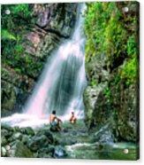 El Yunque Rain Forest Waterfall Acrylic Print