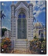 Elaborate Mausoleum  Colon Cemetery Havana Cuba Espada Cemetery Acrylic Print