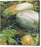 Elbow River Rocks 2 Acrylic Print