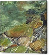 Elbow River Rocks 3 Acrylic Print