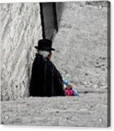 Elderly Beggar In Chordeleg Acrylic Print