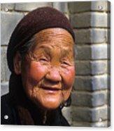 Elderly Chinese Woman Acrylic Print