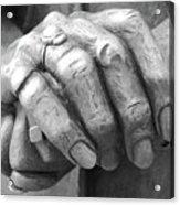 Elderly Hands Acrylic Print