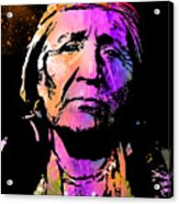 Elderly Hupa Woman Acrylic Print