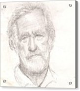 Elderly Man Acrylic Print