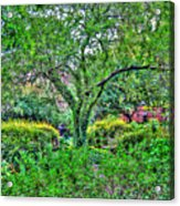 Elderly Man At St. Luke's Garden Acrylic Print