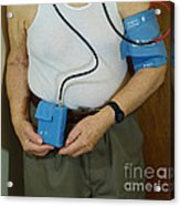 Elderly Man Wearing A Blood Pressure Acrylic Print