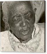 Elderly Woman Acrylic Print
