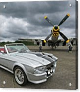 Eleanor Mustang With P51 Acrylic Print