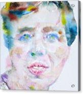 Eleanor Roosevelt - Watercolor Portrait Acrylic Print