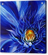 Electric Blue Acrylic Print
