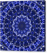 Electric Blue Mandala Acrylic Print
