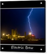 Electric Brew Poster Acrylic Print