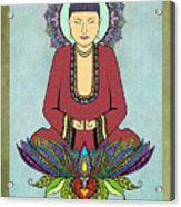 Electric Buddha Acrylic Print