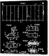 Electric Football Patent 1955 Black Acrylic Print