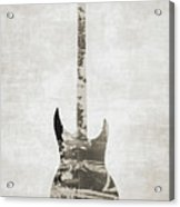 Electric Guitar Sepia Acrylic Print