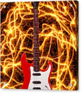Electric Guitar With Sparks Acrylic Print