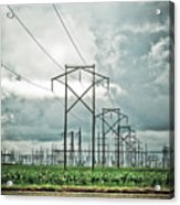 Electric Lines And Weather Acrylic Print
