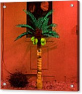 Electric Palm Tree Acrylic Print