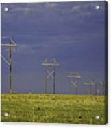 Electric Pasture Acrylic Print by Melany Sarafis