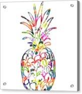 Electric Pineapple - Art By Linda Woods Acrylic Print
