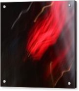 Electric Red And Yellow Acrylic Print