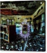 Electric Shock On Abandoned Hotel On Liguria Mountains - Pericolo Di Scossa Nell'hotel Abbandonato Acrylic Print