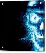 Electric Skull Acrylic Print