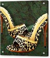 Electric Slide In Leopard Acrylic Print